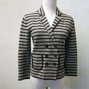 LOFT striped sweater blazer